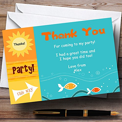 Sunny Beach Swimming Pool Personalized Birthday Party Tha...