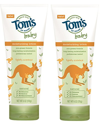 Tom's of Maine Natural Baby Moisturizing Lotion, Lightly Scented, 6 Ounce, 2 Count by Tom's of Maine