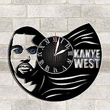 Kanye West vinyl clock Kanye West wall poster Kanye West wall decor Kanye West music Kanye West rap music Kanye West art Kanye West fan gift