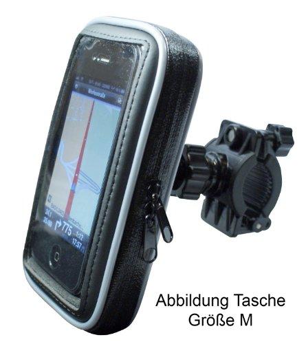 Fahrrad- und Motorrad-Halterung mit Schutz-Tasche für Smartphone, Navigator, Handy, MP3 Player - Display-Diagonale: 5,5