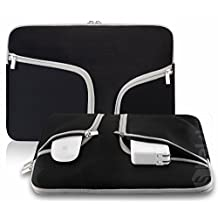 "TaoFilm Pro Neoprene Soft Sleeve Bag Cover Case [ Zipper Briefcase ,Handbag, With TaoFilm Pro Packing ] for MacBook Pro 15.4"" with or without Retina Display & Universal Laptop Netbook 15 Inch (Black)"