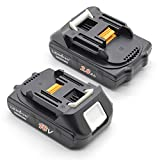 LENOGE Wholesale 2 Packs High Quality Replacement Battery (18V 2000mah Samsung Cell) for Makita Power Tools BL1815 BL1820 BL1830 BL1835 BL1850 LXT400 194204-5 194205-3 194309-1 (18Months Warranty)