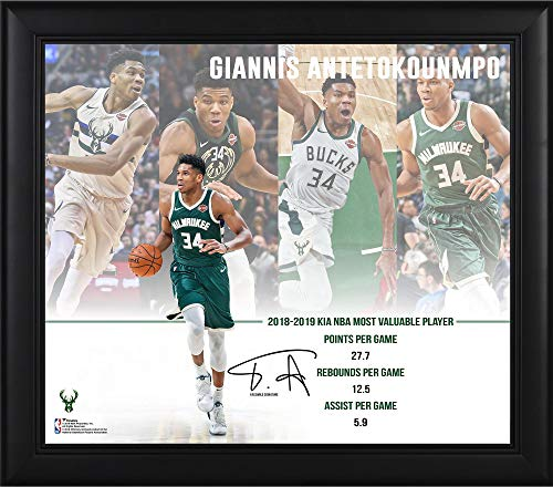 Giannis Antetokounmpo Milwaukee Bucks Framed 15