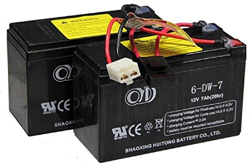 Razor 24 Volt 7Ah Battery Pack (Dual 12 Volt 7 Ah) for MX350 (V9+) | MX400 | Pocket Mod | Dirt Quad | Dune Buggy | Ground Force Drifter | -