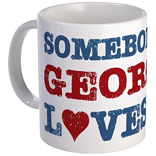 - CafePress Somebody In Georgia Loves Me Mug Unique Coffee Mug, Coffee Cup