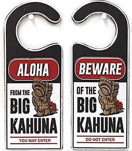 Island Home Hawaiian Style Heavy Gauge Steel Door Sign Big Kahuna