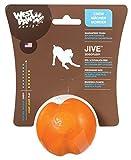 West Paw Design Zogoflex Jive Guaranteed Tough Dog Ball Chew Toy, Small 2.6-Inch, Tangerine