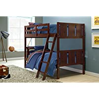 DONCO Kids 2009TTCP Portofino Bunk Bed, Twin/Twin, Dark Cappuccino
