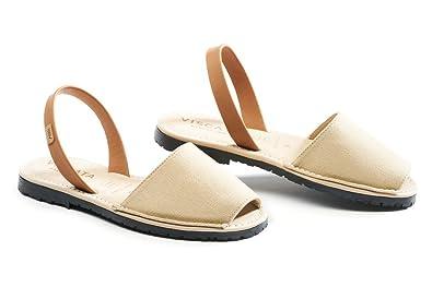 Amazon.com: VISCATA - Sandalias de lona hechas a mano en ...