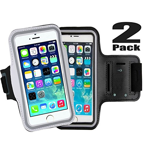 Bandit Costume For Dog (Cell Phone Armband: 5.7 Inch Case for iPhone 8/8 plus/7 Plus, 6/6S Plus, S8,All Galaxy Note Phones.etc.CaseHQ Adjustable Reflective Velcro Workout Band, Key Holder & Screen Protector (black+silver))