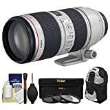 Canon EF 70-200mm f/2.8 L IS II USM Zoom Lens + Backpack + 3 UV/ND8/CPL Filters Kit for EOS 6D, 70D, 7D, 5DS, 5D Mark II III, Rebel T5, T5i, T6i, T6s
