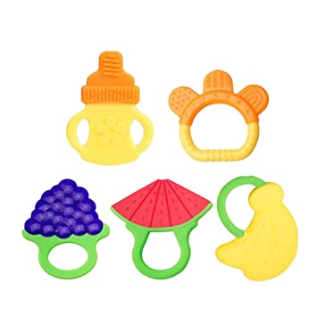 Amazon Com Baby Teething Toys Jinsey Teething Keys Set Bpa