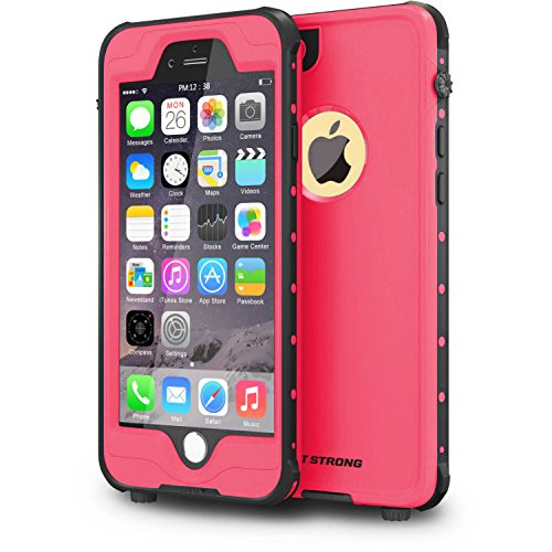 ImpactStrong iPhone 6 Plus Waterproof Case [Fingerprint ID Compatible] Slim Full Body Protection for Apple iPhone 6 Plus & 6s Plus (5.5) - Pink
