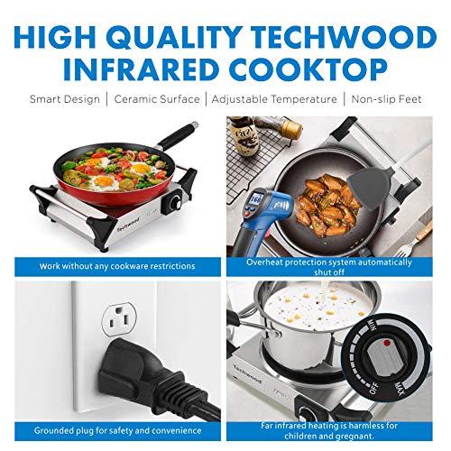 Amazon.com: Techwood - Estufa de cerámica eléctrica con ...