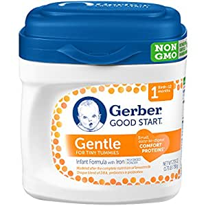 Gerber Good Start Gentle Non-GMO Powder Infant Formula, Stage 1, 27.8 Ounce (Pack of 4)