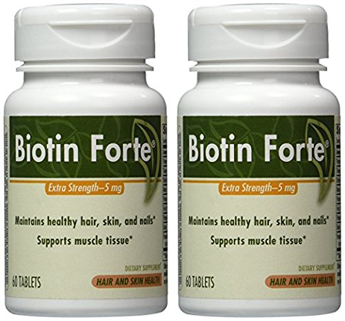 Cheap Enzymatic Therapy Biotin Forte® 5mg without Zinc 60 tabs ( Multi-Pack) – Pack of 2