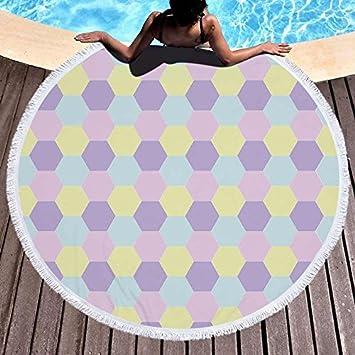 GSYAZTT Toallas de Playa Redondas Toallas de Baño de Microfibra Suave Toallas de Deporte 150 Cm Toalla de Playa Toalla de Picnic Manta Verde 150X150Cm: ...