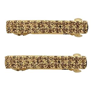 Gold Sparkle Auto Barrettes