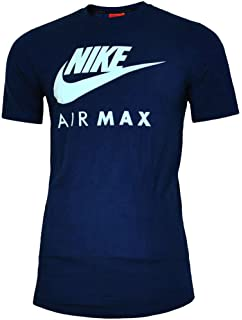 MENS BRAND NEW NIKE AIR MAX TSHIRT CREW NECK IN BLACK BLUE WHITE COLOURS S  TO… 8e869ee7c9