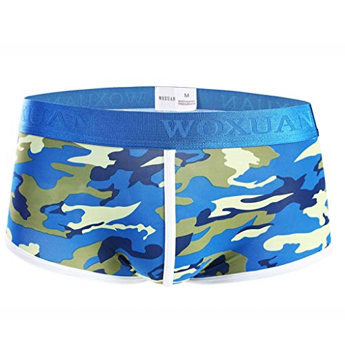 Stoota 2019 Newest Men's Camouflage Underwear, U Convex Breathable Sexy Tight Boxer Panties ()