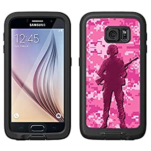 Skin Decal for LifeProof FRE Samsung Galaxy S6 Case - Digital Pink Camouflage Soldier