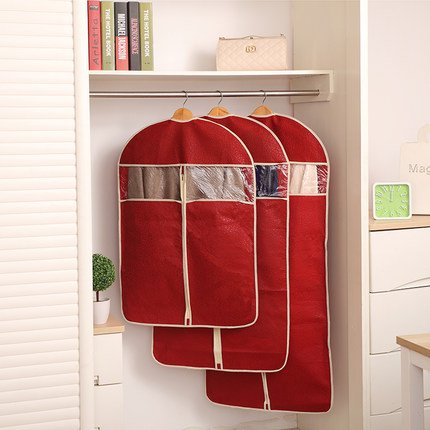 Vivona HN-DB1 Non-Woven Organization Storage Bag Clothes Protector Cover Garment Suit Coat Dust Bags - (Size: S, Color: Deep Blue)