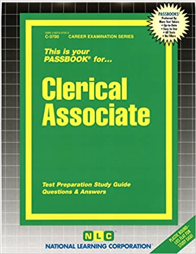 Clerical Associate(Passbooks) (Career Examination Series): Passbooks ...