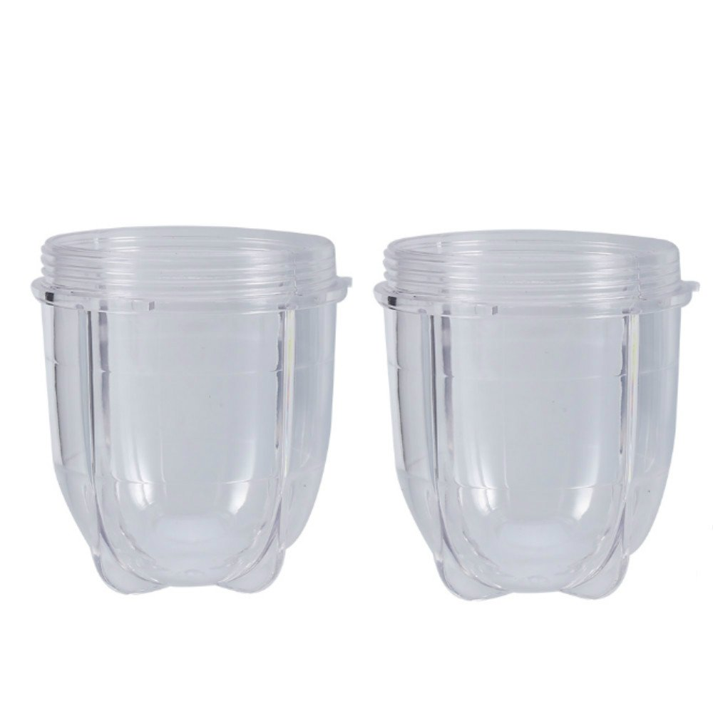 2 x Short Cups, Kitchen Blender Replacement Parts Transparent Short Cups Mug for 250W Blender Juicer Yosoo