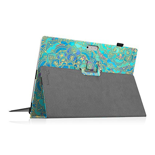 Fintie Case for Surface Pro 7 / Pro 6 - Premium Vegan Leather Slim Fit Folio Cover with Stylus Holder, Compatible with Microsoft Surface Pro 5 / Pro 4 / Pro 3 and Type Cover Keyboard (Shades of Blue)
