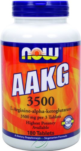 Now Foods, AAKG 3500, 180 Tablets