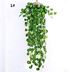 Taka Co Fake Plants Artificial Green Leaf Ivy Wall Decor Room Decoration Fake Plants Vine Wedding para Indoor Artificiales Plant-Begonia Beam 57