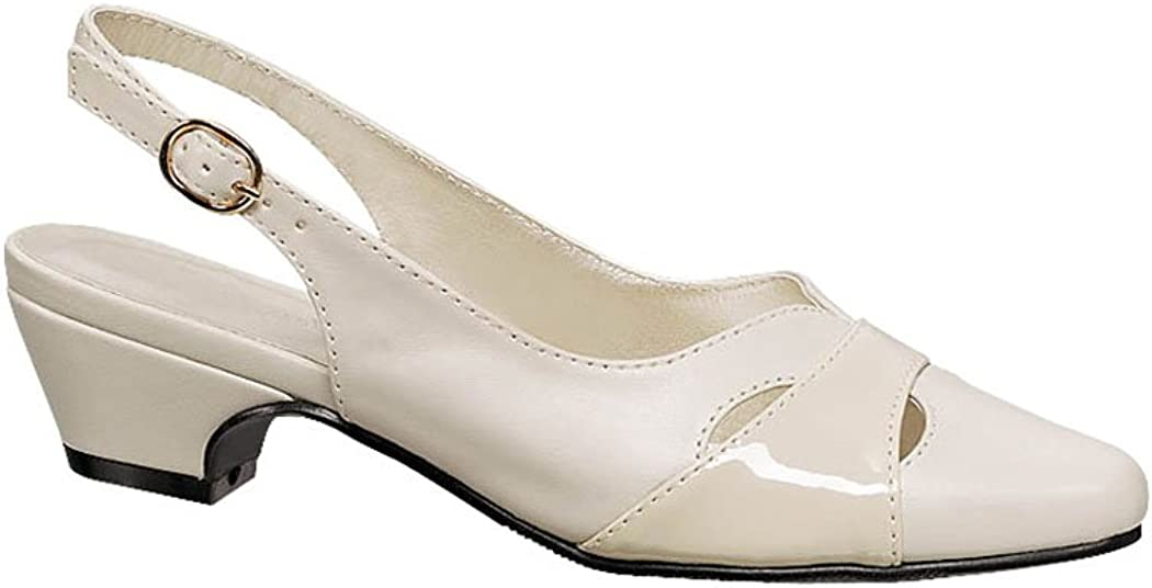 60s Shoes, Boots AngelSteps Womens Juniper Pumps Dress Shoes Adjustable Buckle Back Low Heel $33.99 AT vintagedancer.com