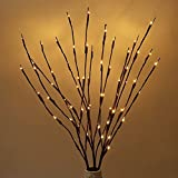 60 LED Lights Artificial Tree Plants Branches Lights Willow Twig Willow Home Holiday Decor Lighted Battery-operated