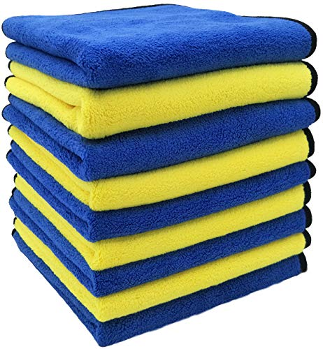 IGETURBO Car Drying Towel 9Pack Premium Microfiber Towels for Cars Professional Soft Microfiber Cloths Lint Free Super Absorbent Car wash Towel 16in x 16in