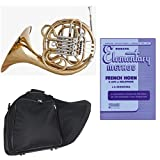 Band Directors Choice Double French Horn Key of F/Bb - Rubank Elementary Method Pack; Includes Intermediate French Horn, Case, Accessories & Rubank Elementary Method Book