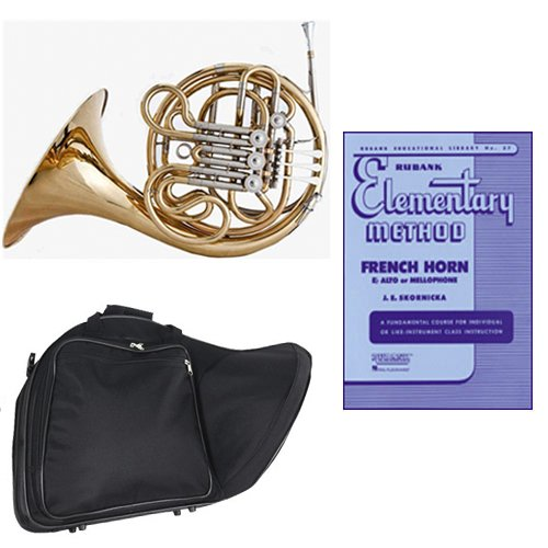 Band Directors Choice Double French Horn Key of F/Bb - Rubank Elementary Method Pack; Includes Intermediate French Horn, Case, Accessories & Rubank Elementary Method Book by Double French Horn Packs