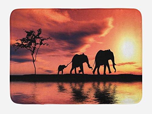 elephant decor bath tub mats - 8