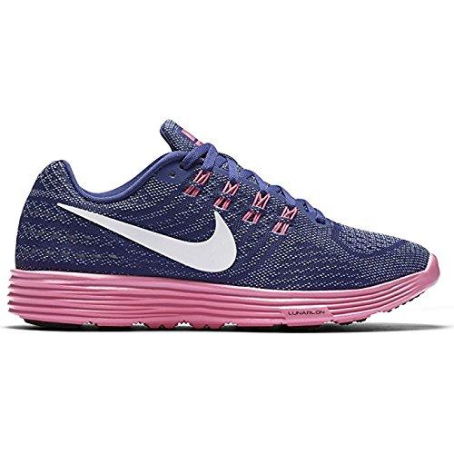 Nike Damen Wmns Lunartempo 2 Laufschuhe Morado (Dk Prpl Dst / Blk-Pnk Blst-Bl Gr)