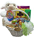 "Delight Expressions® ""Little Lamb"" Easter Gift Basket - Chocolate and Candy Basket for Kids"