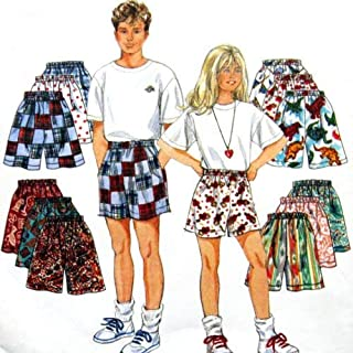 product image for GIRLS & BOYS SHORTS SIZE 7-8-10-12-14 EASY SIMPLICITY PATTERN 9052