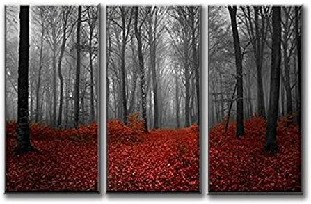 PHOTO WIDE SUNSET OVER DARK FOREST GIANT POSTER WALL ART PRINT LLF0059