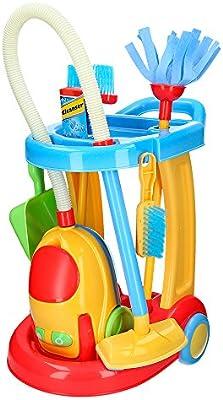 PlayGo - Carrito de limpieza con aspirador eléctrico CBtoys (44588 ...