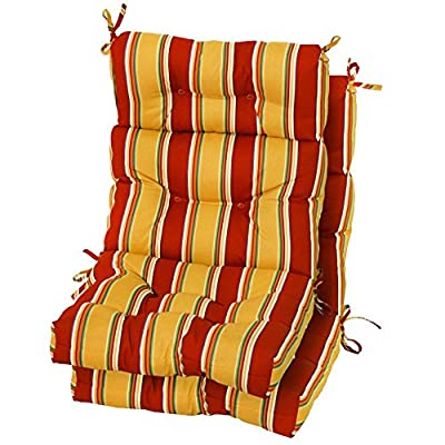 Greendale Home Fashions Indoor/Outdoor High Back Chair Cushions