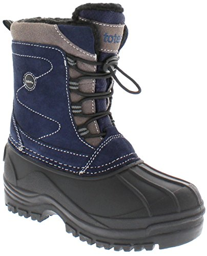 [Totes Boys Michael Snow Boot, NAVY, 12] (Boots For Boys)