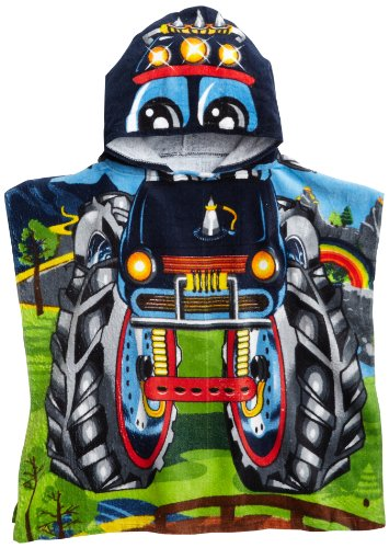 Northpoint Monster Truck Kids Hooded Beach Towel, 24 x 48 Inch (Best Trucks For Kids)
