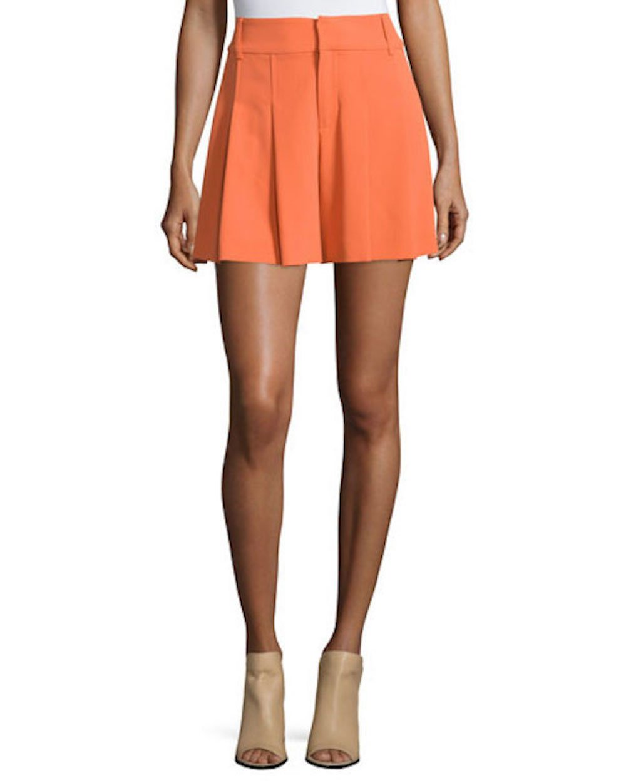 Alice + Olivia High Waist Flutter Short, Tangerine, Size 8
