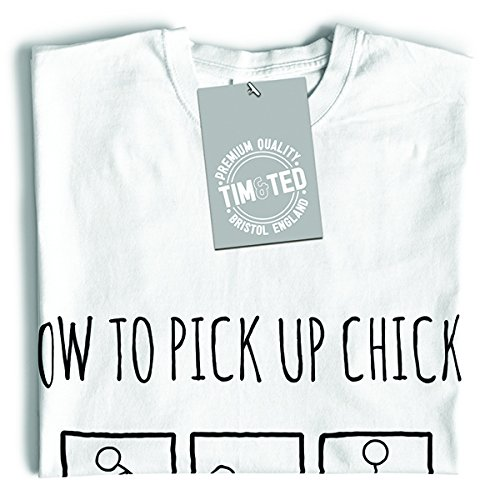 Tim and Ted Come far salire Chicks divertente scherzo sciocco Pun Pick Up Lines T-Shirt Da Donna