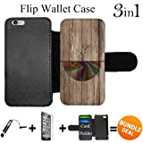 Flip Wallet Case for iPhone 6/6S (Abstract Tree Roots Wood) with Adjustable Stand and 3 Card Holders   Shock Protection   Lightweight   Includes HD Tempered Glass and Stylus Pen by Innosub