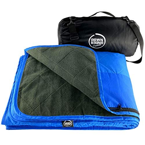 Down Under Outdoors Large Waterproof Windproof Extra Thick Quilted Fleece Blanket