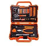 RockBirds Household Hand Tool Kit with Plastic Tool box, Orange, 47-Piece